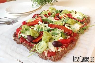 Meatza lchf pizza