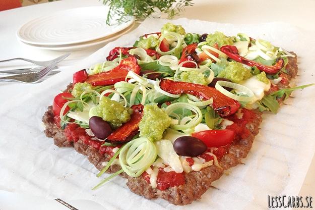 Meatza – pizza med köttbotten