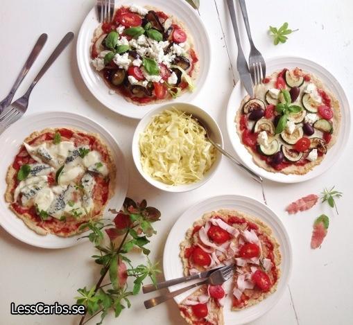 Lchf-pizza - glutenfri pizza