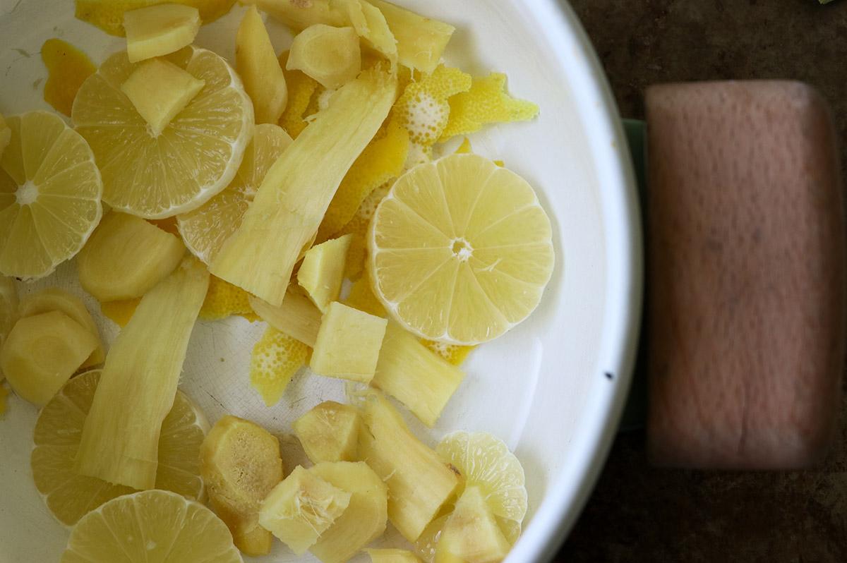 ingefära citron dryck förkylning