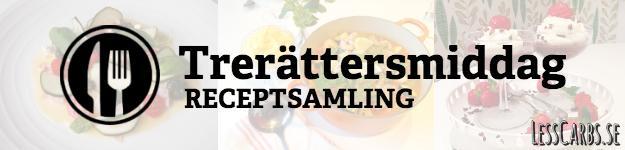 Trerättersmiddag: Avokado/laxtorn med tillbehör, Medelhavsinspirerad köttgryta och saffransostkaka