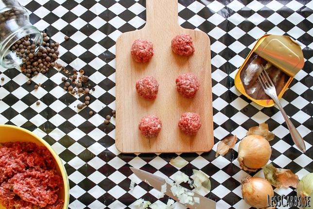 Julköttbullar med ansjovis