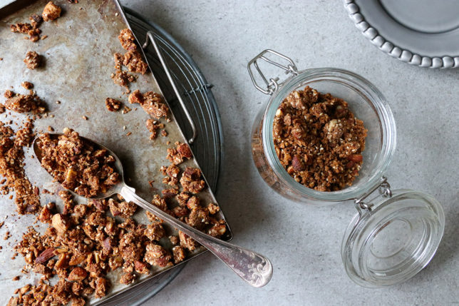 Pepparkaksgranola LCHF, Paleo glutenfritt
