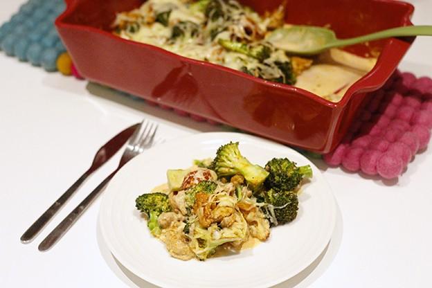Broccolilåda med kycklingfärs – underbart gott!