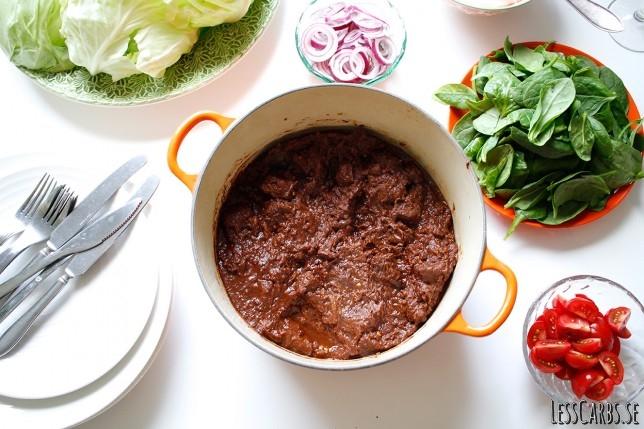 Marockansk pulled beef – en explosion av mustiga smaker