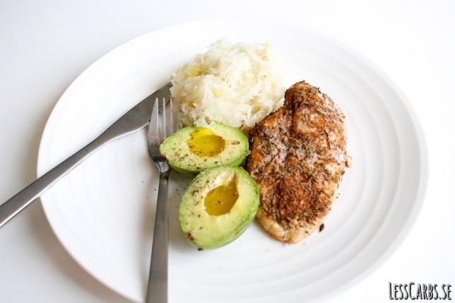 Heurekakyckling med syrad kål – enkel lunch
