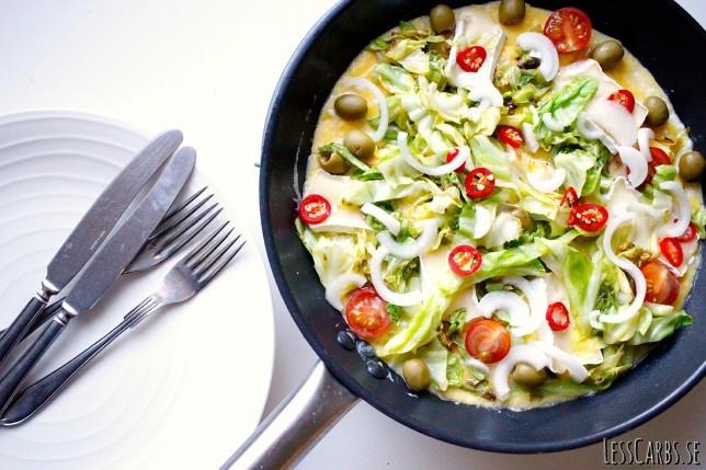 Kesolätt – härligt krämig omelett med keso