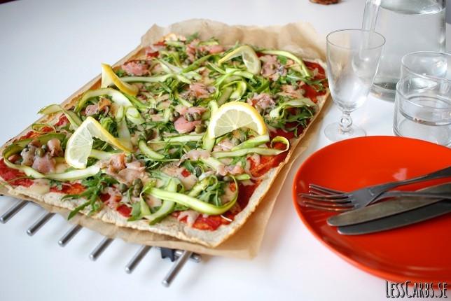 Lax- och sparrispizza – våriga och fräscha smaker!