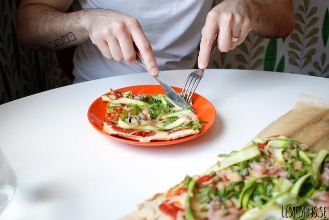 Tre varianter av Pizza