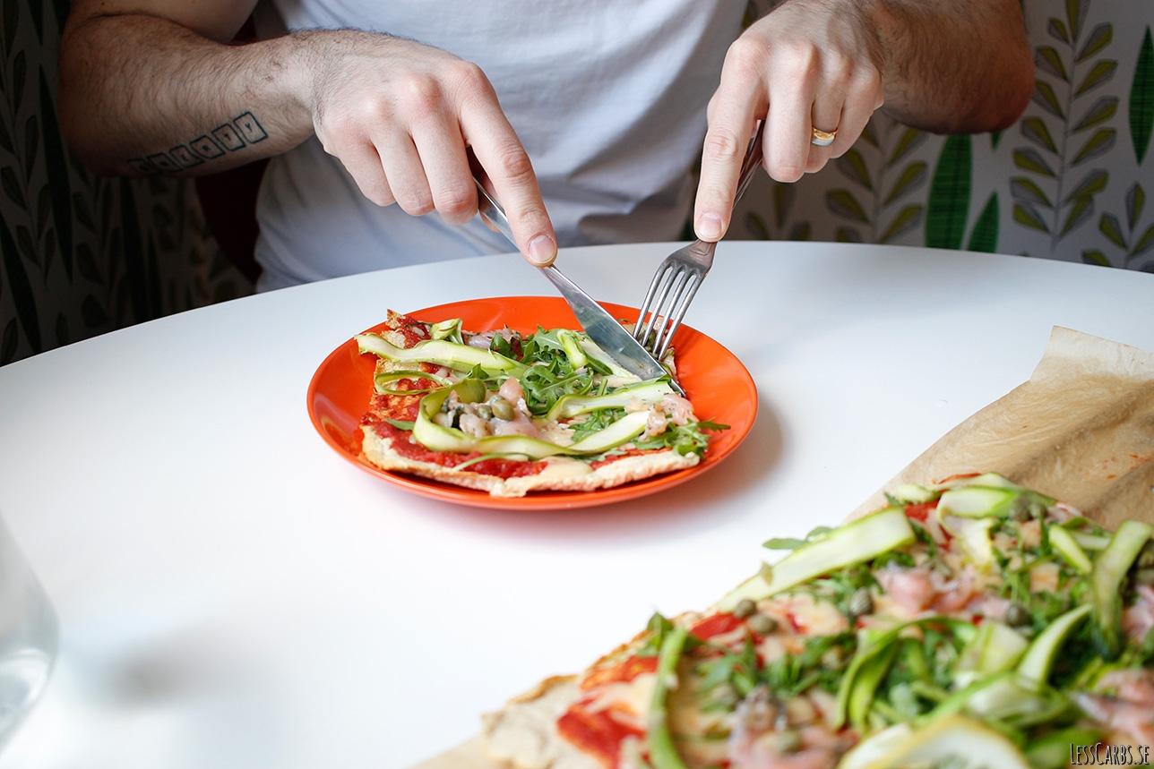 Lax- och sparrispizza