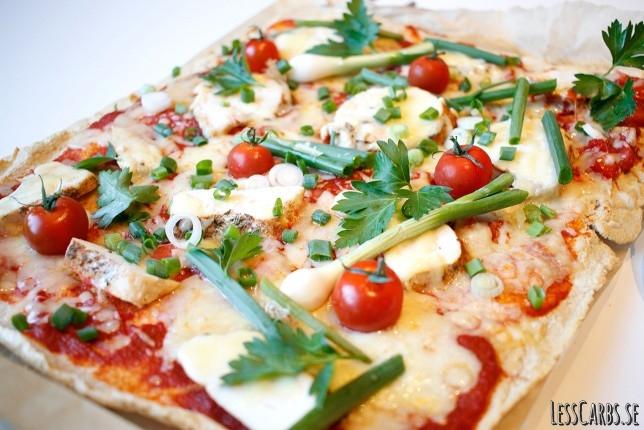 Kycklingpizza – glutenfri/LCHF