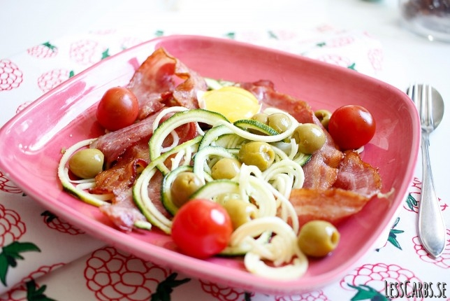Zoodles carbonara style