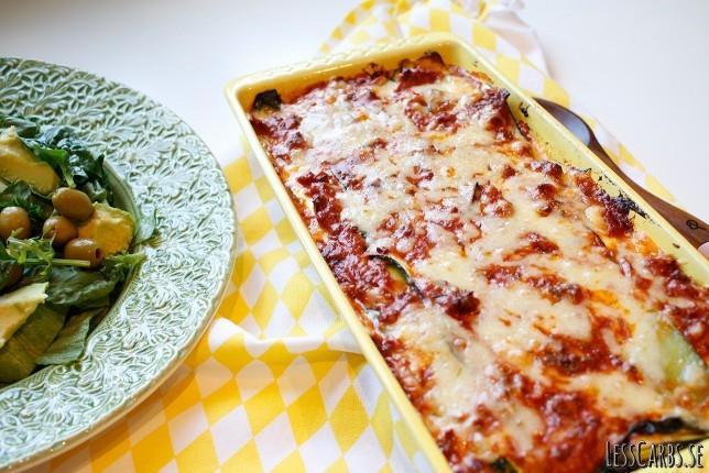 köttfärs zucchini lasagne
