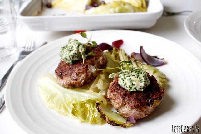 Hönsburgare med lök, oliver och chili – supersmarriga!