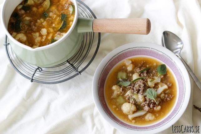Köttfärsgryta eller köttfärssoppa – enkelt och gott!