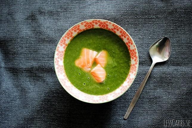 Grön laxsoppa – snabb att laga, supergod att äta!