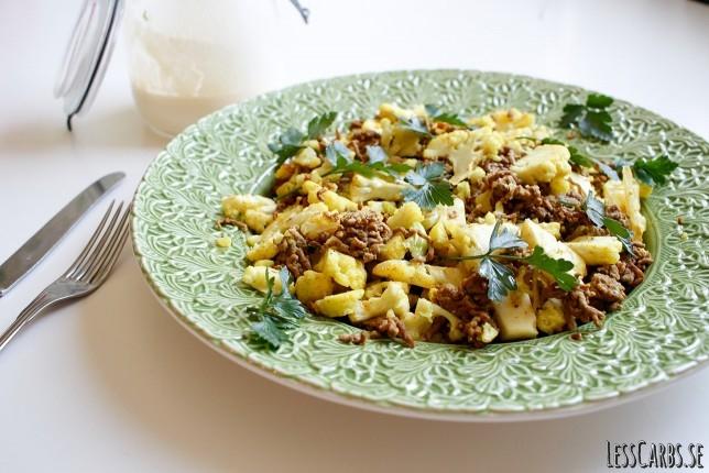 Currypanna med aioli – middag på mindre än 20 min!