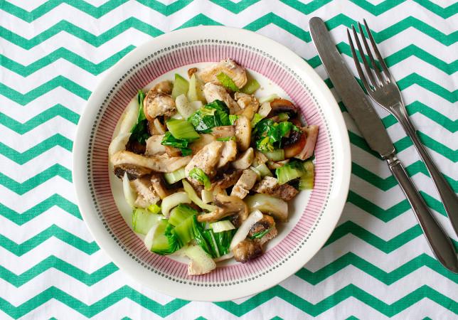Pak choi och kycklingpytt – smarrigt, enkelt och snabbt!