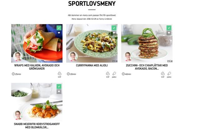 Min sportlovsmeny hos Gastrofy