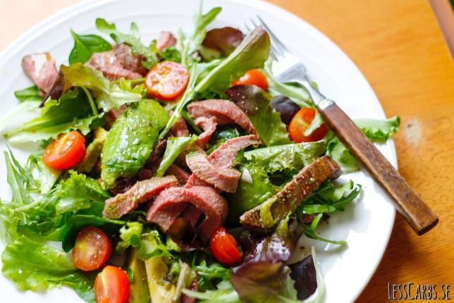 Biffsallad – när du har lite kött över från grillen eller söndagssteken