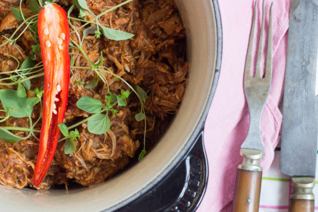 Marockansk Pulled Chicken