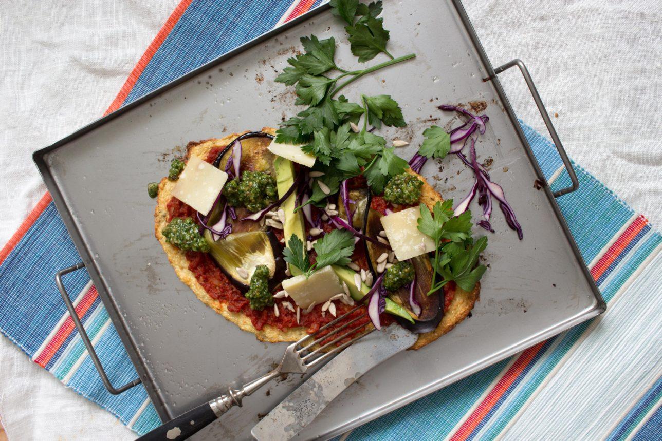 Blomkålspizza utan ost