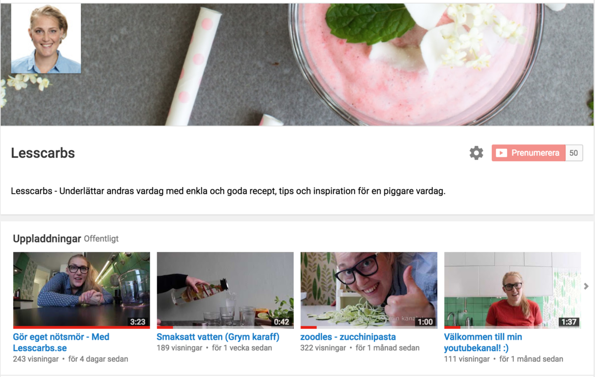 lesscarbs youtube
