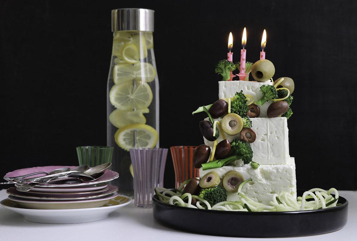LCHF-tårta Grattis Betty 3 år!
