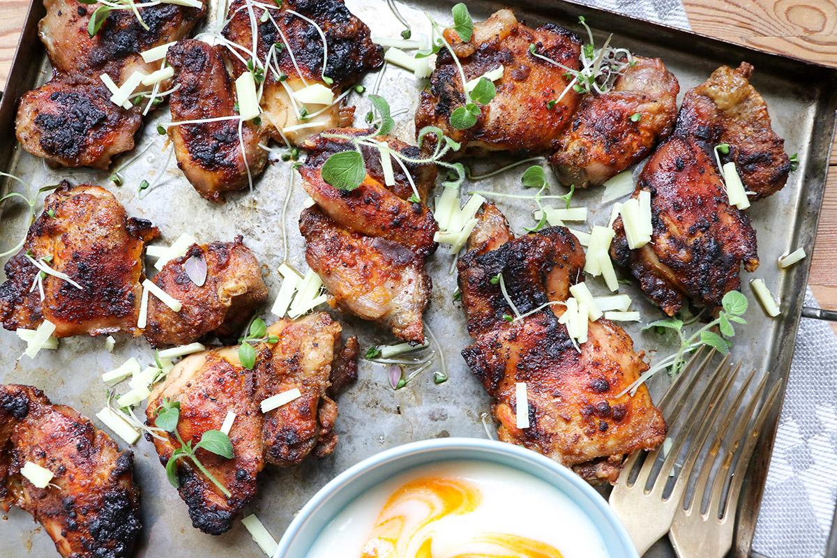 Kryddig kycklinglårfilé med majonäs