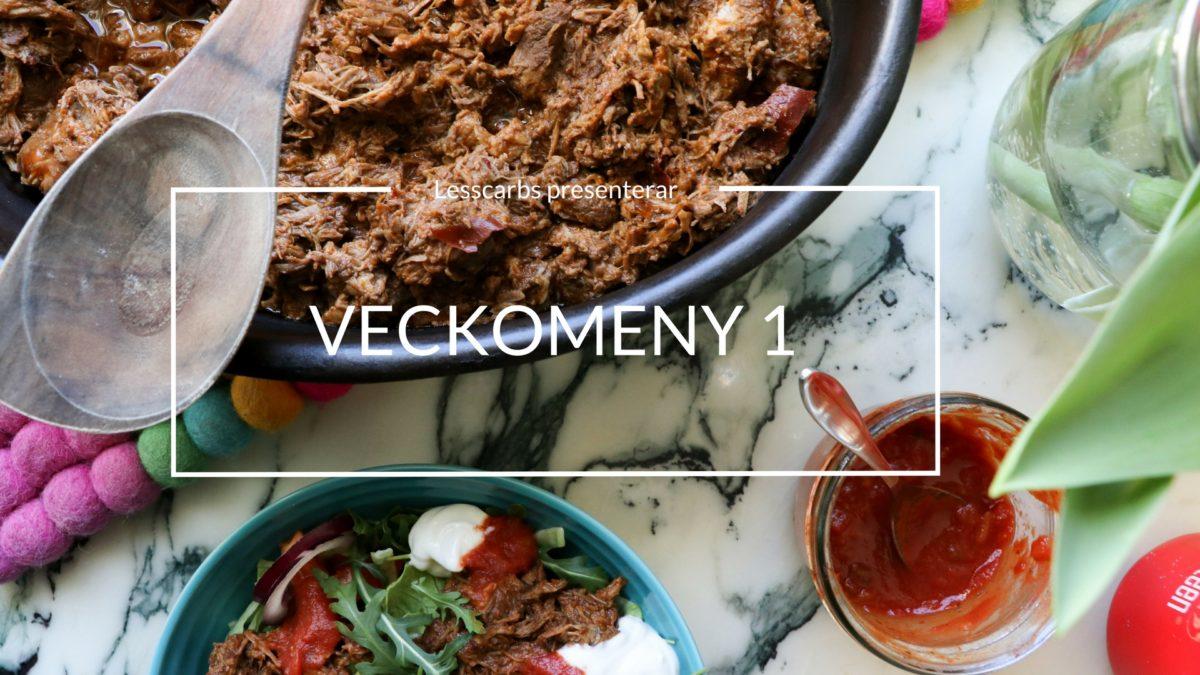 Veckomeny på Lesscarbs.se (meny 1)