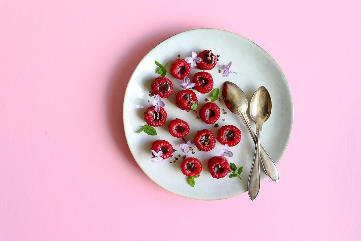 Hallon med chokladgömma – snabbt och elegant!