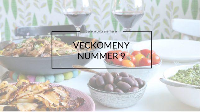 VECKOMENY BASIC PÅ LESSCARBS.SE (MENY 9)