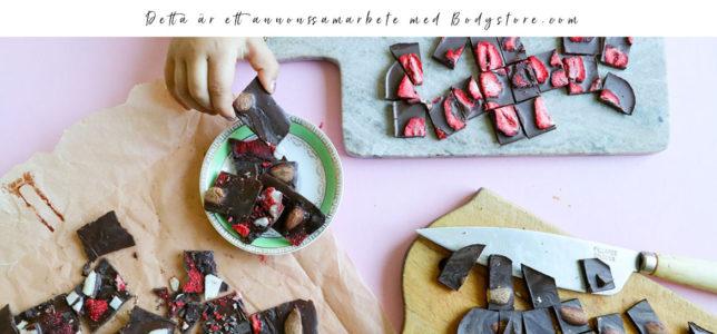 Hemmagjord choklad – raw, vegan, keto, sockerfri
