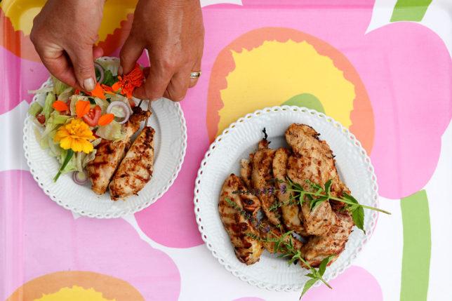 Mammas kyckling med koriander och curry