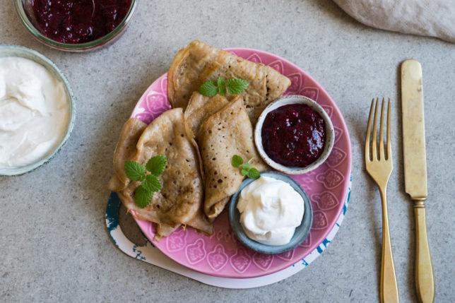 Veganska glutenfria pannkakor – bästa receptet!