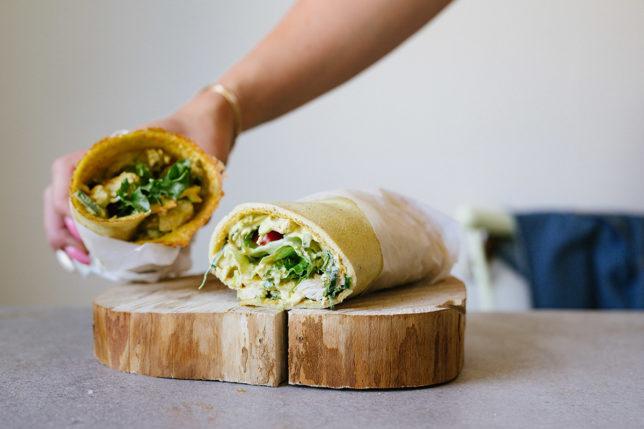 Kycklingwraps – med omelettwraps – bästa strandmaten!