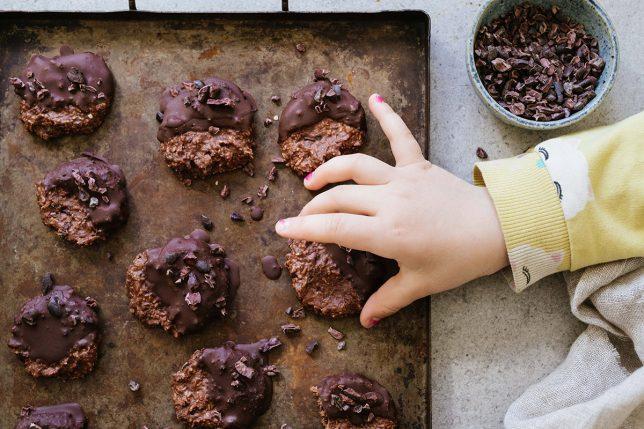 Nötkakor med choklad -paleo, vegan glutenfritt