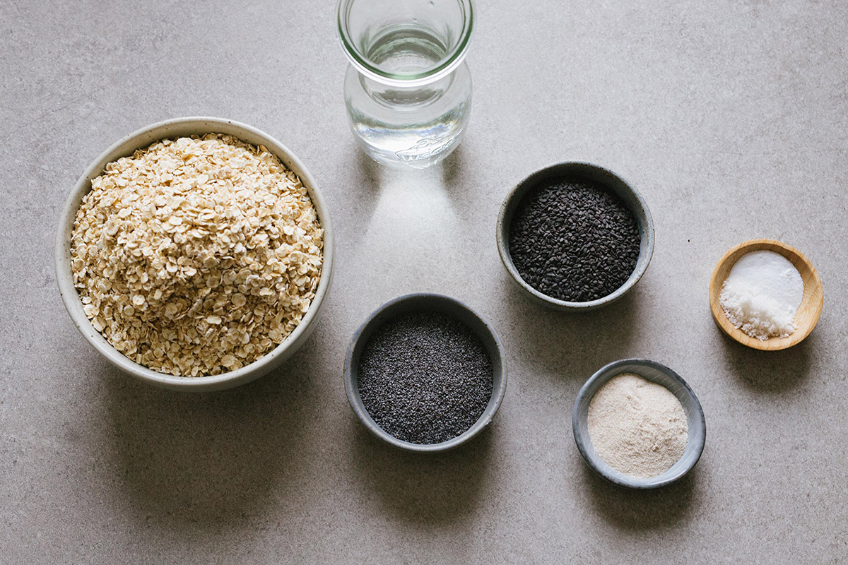 Ingredienser till havreknäcke