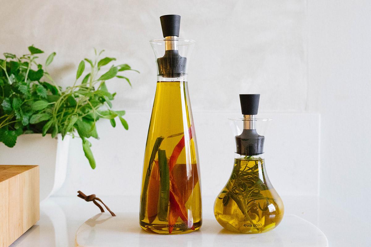 Smaksatt hemmagjord olja