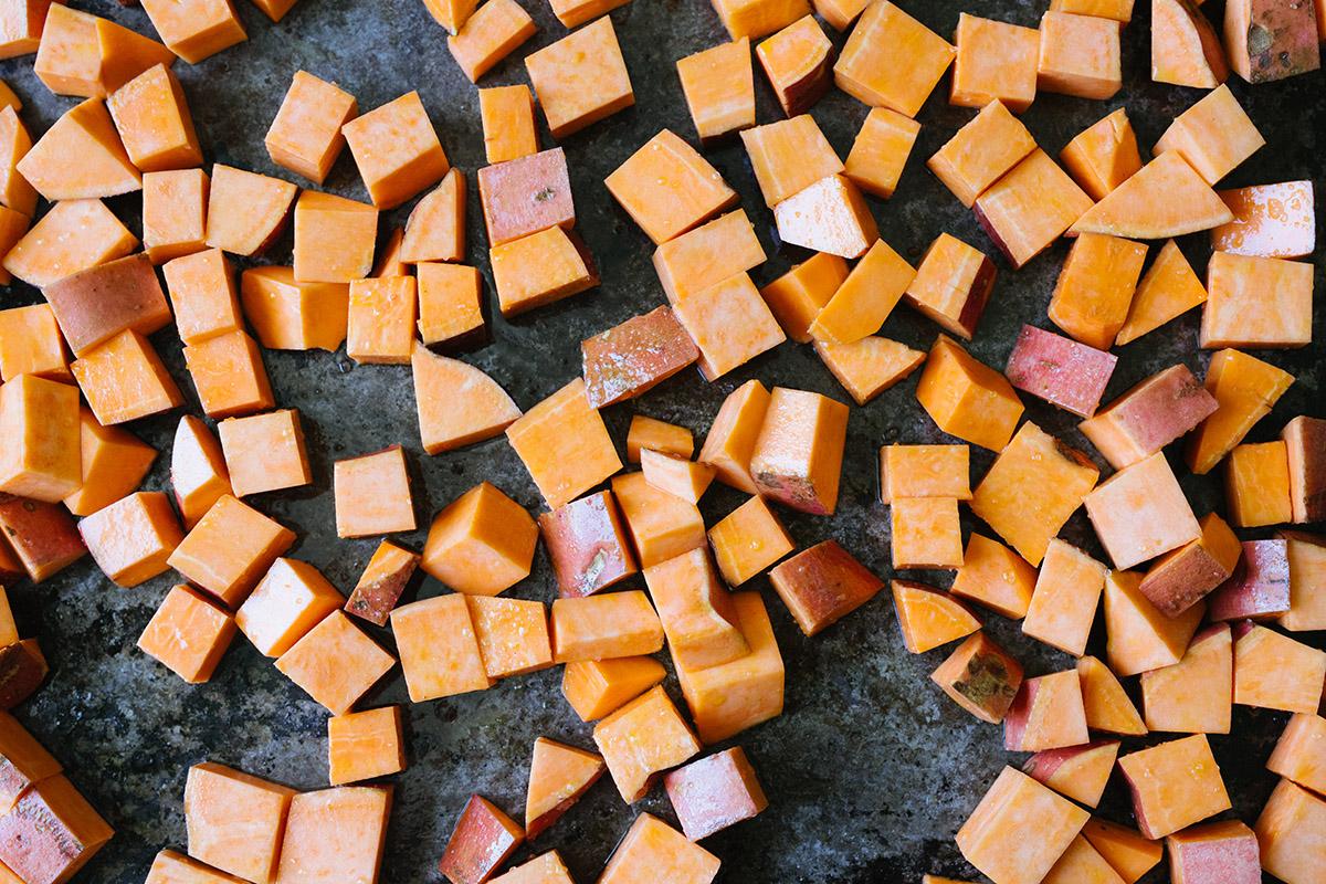 Trerättersmeny med sötpotatis