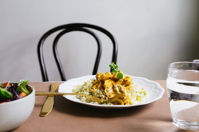 Kyckling i currysås