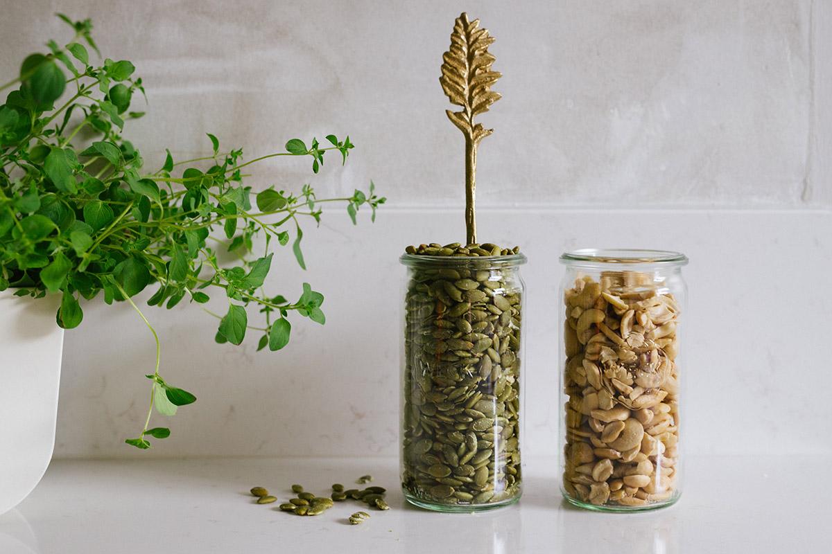 Blötlägga frön och nötter