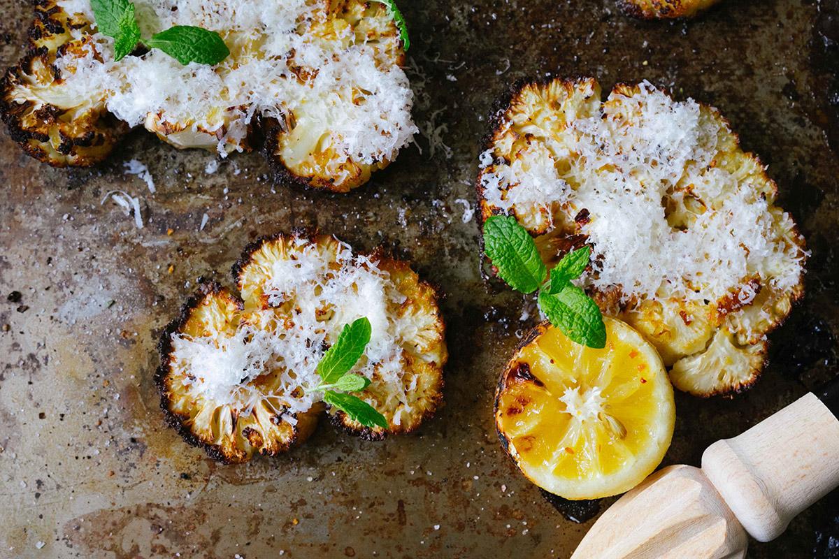 Blomkål med parmesan och citron