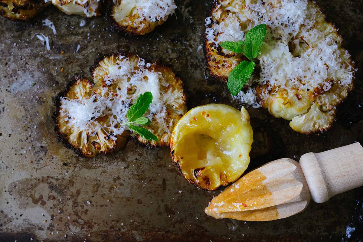 Blomkål med citron och parmesan