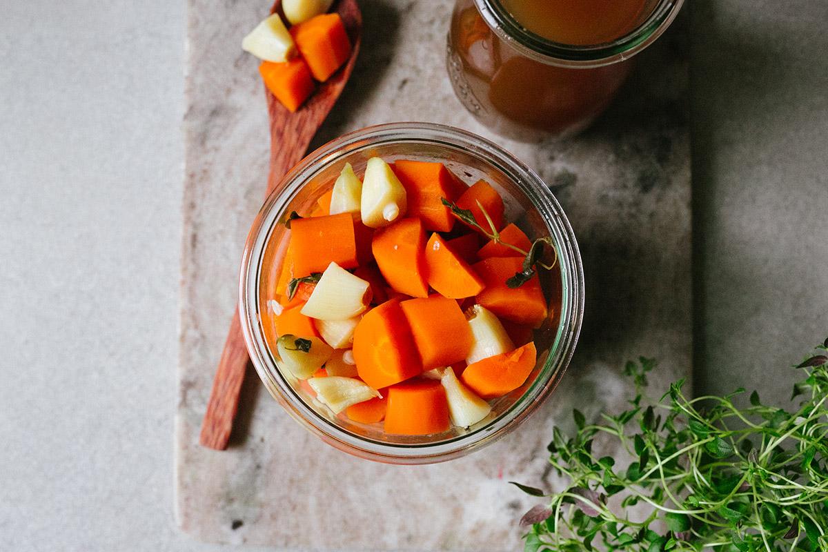 Morötter i buljong