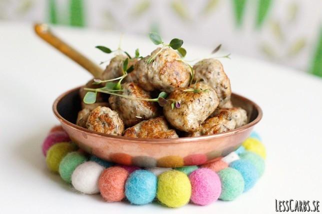 Kycklingköttbullar med timjan och vitlök – mums!