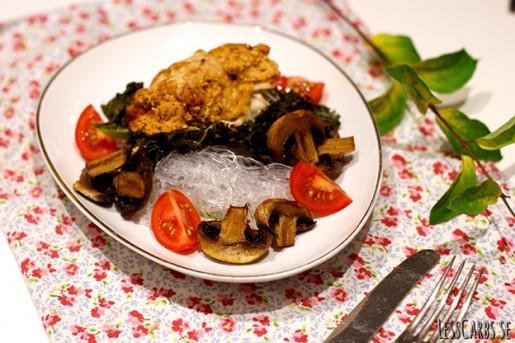 Fisk med Lesscarbs italienska sås