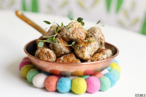 Kycklingköttbullar med timjan och vitlök
