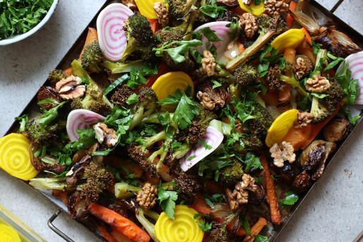 Lyxa till de rostade grönsakerna