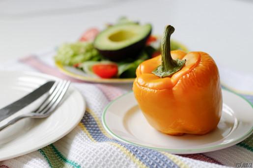 Köttfärsfylld paprika med oregano